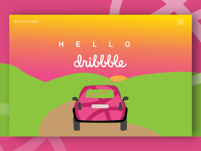 Hello Dribbble web icon ux typography branding vector ui logo design illustration