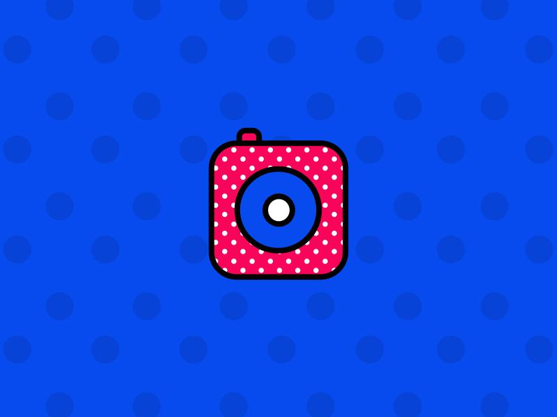 Camera background wallpaper pattern illustrations icons design shapes flat color pixflow app logo identity instagram camera icon illustraion illustrator