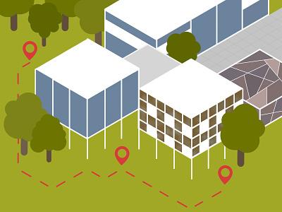 Isometric Buildings procreate digital painting digital art art nature architecture green building isometric art isometric
