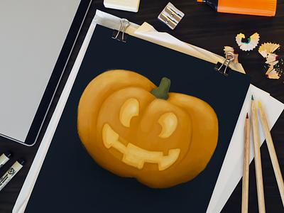 Pumpkin halloween weekly warm-up weeklywarmup pumpkin illustration digital art