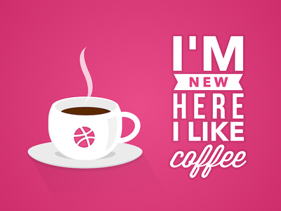 Love for design and coffee dribbble debut first shot coffee