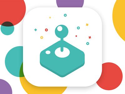 Game Icon app icon sprite kit icon app play spritekit joystick colors colour color game