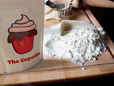 The Cupcake illustration digital art logo icon christmas bake flour baking cupcake