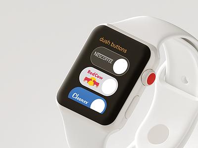 Dush Buttons (Amazon Apple Watch App Concept) mockup app apple watch amazon buttons dash