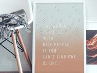 Nice People Art Print