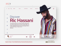 UI/UX Design for @RicHassani Music