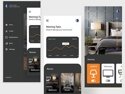 smart home application portfolio resume layout minimalist remote work follow recent likes famous designer new latest popular minimal uiux ux ui smarthome