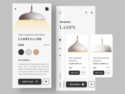 Lamp App Concept website branding vector clean typography illustration web ux illustrator design app