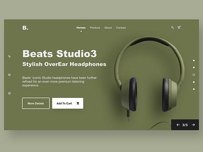 headphones Web music vector illustrator comment likes popular top headphones mobile wedesigner website landing client spacing visual uidesign ui grid clean minimal