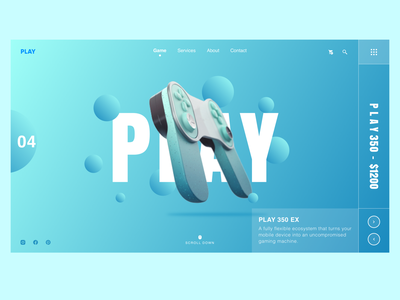Play Console Website web graphicdesign animation popular logo graphic design ux clean ui free download space clean minimal popular followers landingpage website remote game