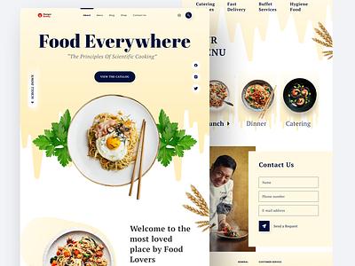 Food landing page clean logo branding follow latest popular uidesign hunger food ui landingpage landing