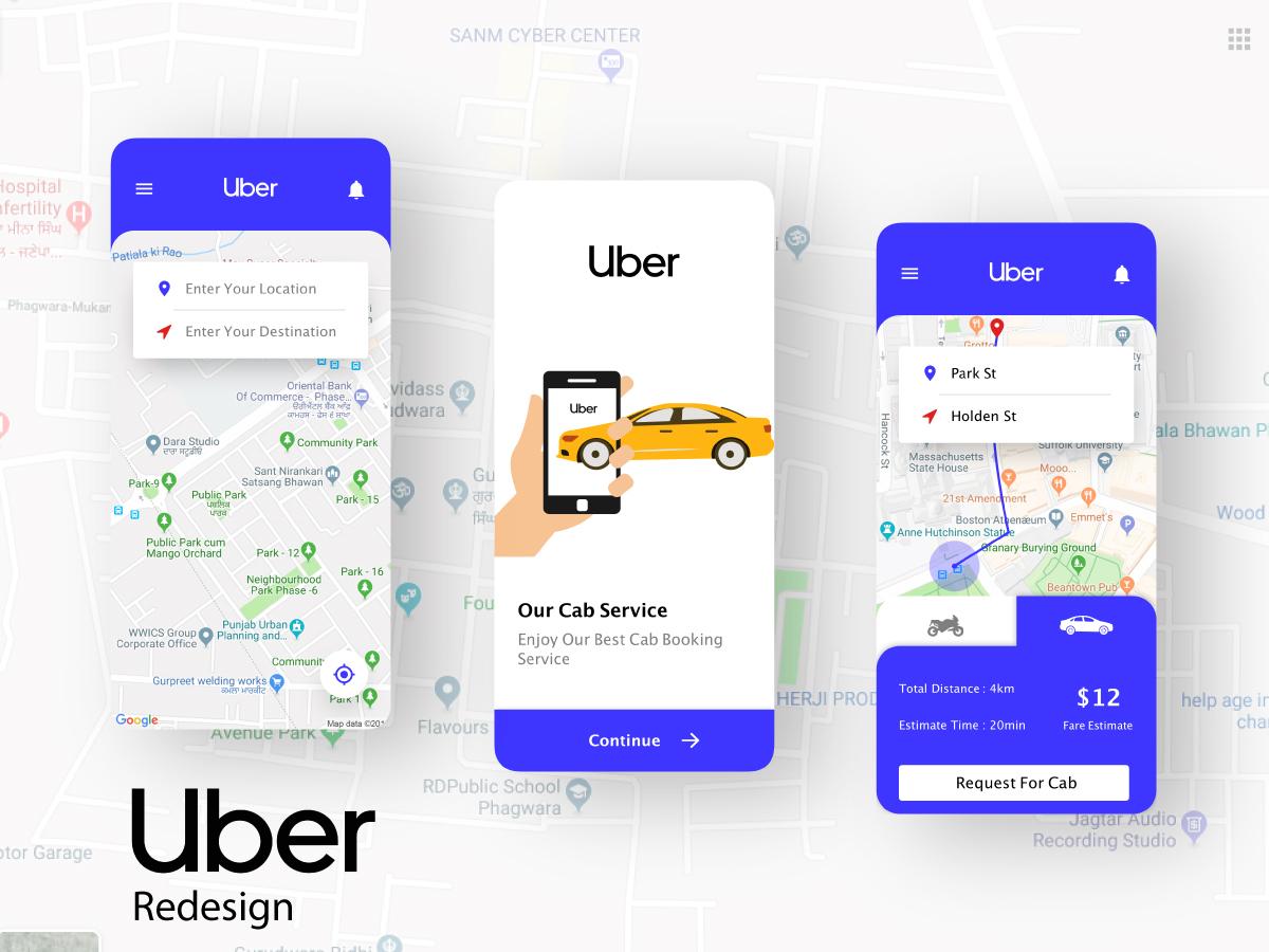 Uber Redesign web ux vector identity ui clean app typography illustrator illustration design