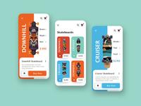 Skateboard app concept