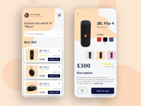 speaker app concept