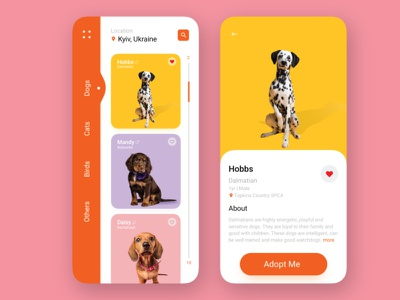 pet adoption illustrator dribbble pet dog branding vector typography web illustration ui design app