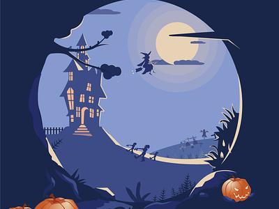Happy halloween design illustrator halloween party halloween night spooky