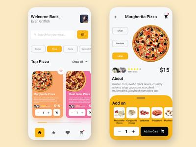 Food app web vector ux flat minimal clean love company brand client job interface dailyui app food app delivery design food