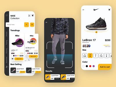 Nike App 2.0 great likes color plain motion clean easy animation minimal app design shoesapp nike shoes app nike running nike air