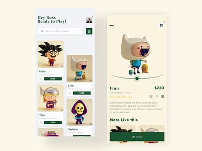 TOYS APP CONCEPT popular tools like minimalism minimalistic love design uidesign toy