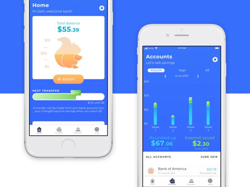 Changed App interface finance ui ux data visualization interaction app