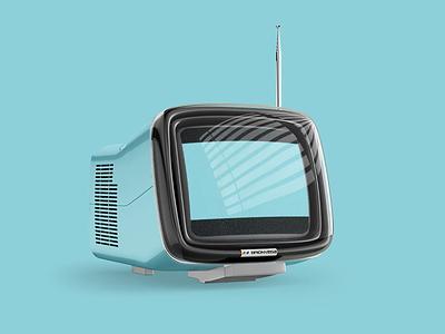 Retro TV Bumper design brand identity branding typogaphy adobe adobe illustrator motion graphics after effects motion graphics tv show ifc ad bumper tv
