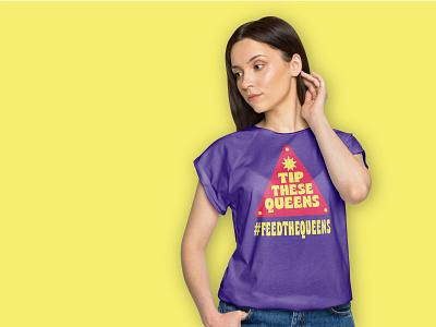 FTQ Merch Shirt shirts shirt mockup shirt design shirt drag queens drag race shangela brand refresh feed the queens visual identity type vector design brand identity branding typography