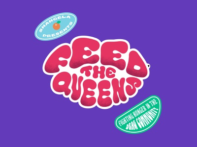Feed The Queens rupauls drag race drag drag queens drag race shangela trademark brand refresh feed the queens design vector visual identity logo brand identity branding typography