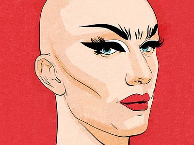 Sasha Velour rupauls drag race digital art portrait drawing sasha velour drag illustration