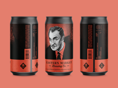 House on Haunted Hill Amber Ale craft beer label halloween movie detroit eastern market beer can beer label spooky drawing craft beer beer halloween vincent price house on haunted hill illustration
