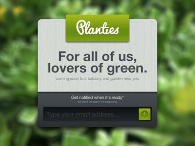 Planti.es! ui coming soon planties