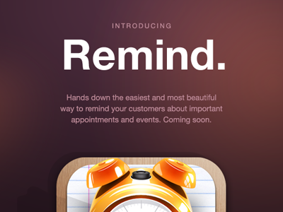 Introducing Remind. coming soon ui remind