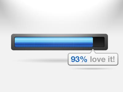 93% love it! progressbar ui nicereply