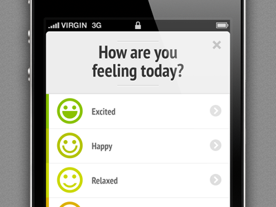 How are you feeling today? ios iphone mood