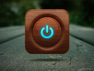 Off Rebound icon practice ios wood