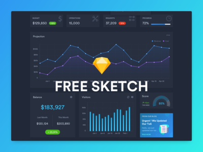 FREEBIE - Dark Dashboard Template