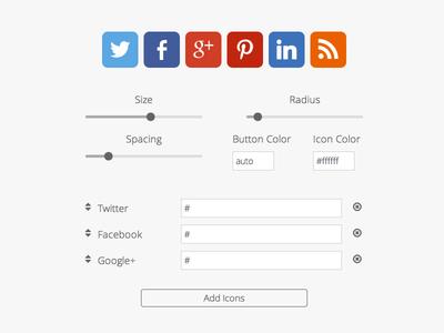 Social Icon Design Tool
