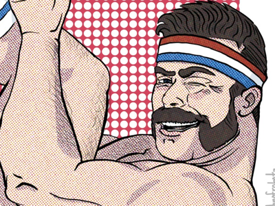 Halftone 80s workout