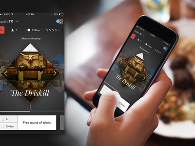 Reservation Concept dining reservations ux ui mobile funsize fnsz