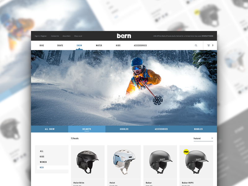 Bern Product Catalog Page