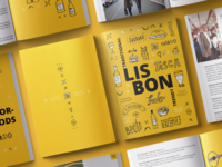 "Illustration and editorial design for ""Lisbon Guide by Facebook"""