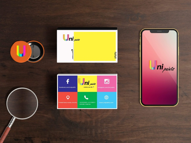 Uni Paints identity illustration branding idea graphic design design color adobe photoshop adobe illustrator