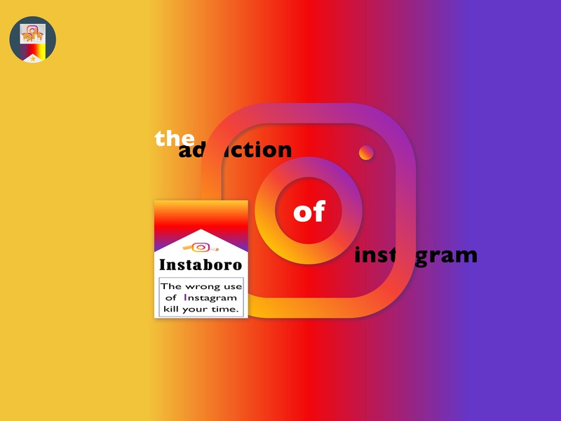 The addiction of social media. logo vector graphic design illustration idea design color adobe photoshop adobe illustrator