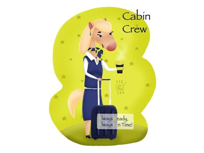 Cabin crew pony.