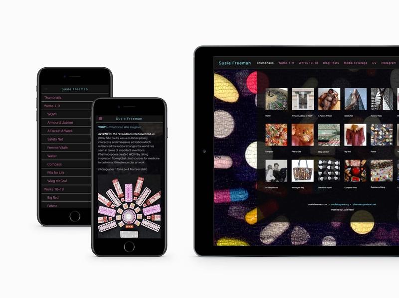 Susie Freeman - website design