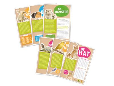 Dierenkaarten Kids For Animals (Stage Vuurrood)