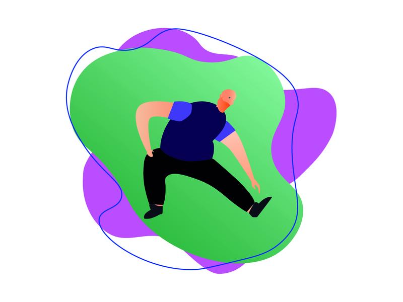 Corredor ilustrator icon flat vector runner charachter design sport design illustration