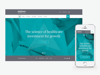 Healthcare Investments Website Concept
