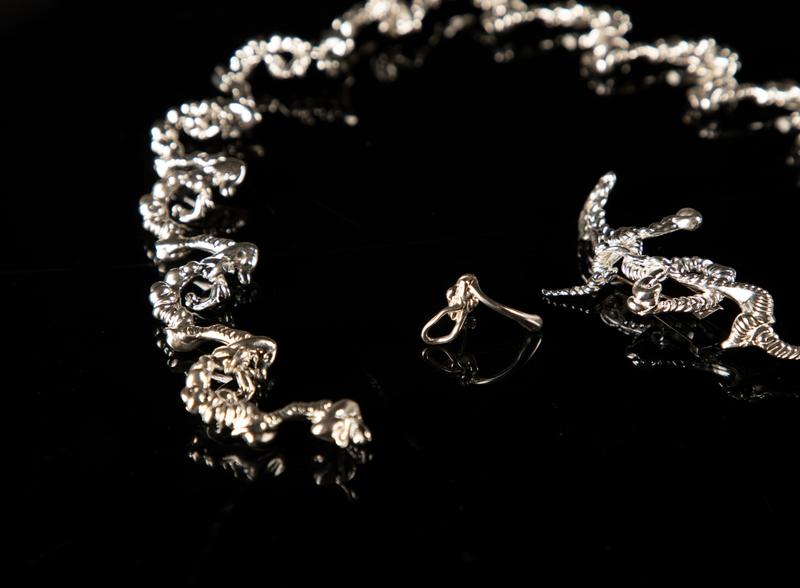 Project Shades Collection 银 珠宝 首饰设计 珠宝设计 necklace wax random contemporary jewelry contemporaryart jewelry designer jewelery jewellry yuanzheng yang jewelry design