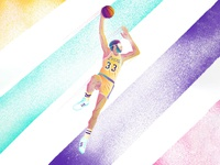 The iconic skyhook. Who's your favorite Laker of all time?