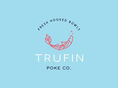 Trufin Poke Co. food fishy art interiordesign restaurant design logo branding combinationmark